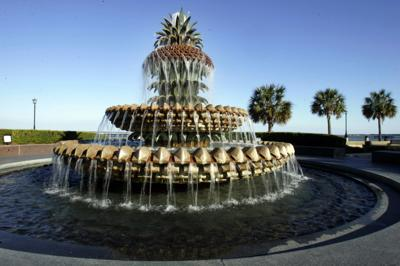 The Pineapple Fountain at Riley Waterfront Park