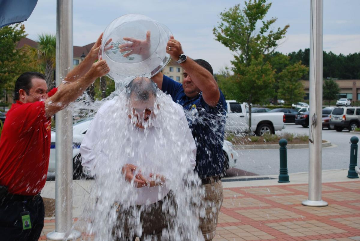 North Charleston Police Chief Driggers takes ALS Ice Bucket Challenge