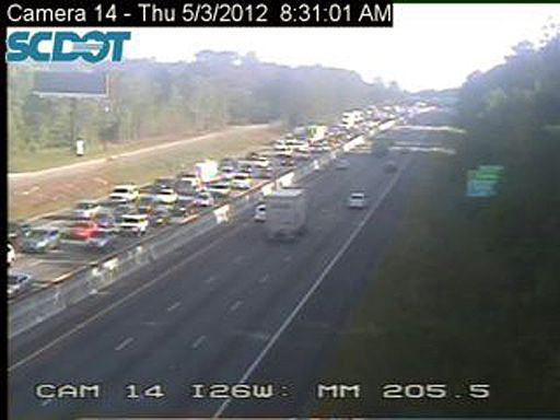 Wrecks on I-26 slow morning commute
