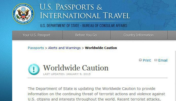 US issues global travel warning after terror attacks