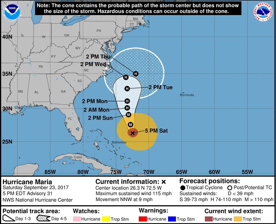 Hurricane Maria's path could mean big surf, beach erosion at Jersey Shore