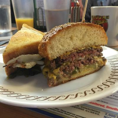 Sean Brock and Danny Bowien cook up free burgers at Waffle House