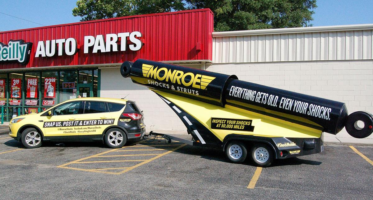Safety Strut Shock absorber maker brings oversized mobile to Charleston on car fitness promotional tour