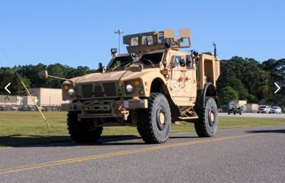 South Carolina National Guard transportation soldiers move Military All-Terrain Vehicle