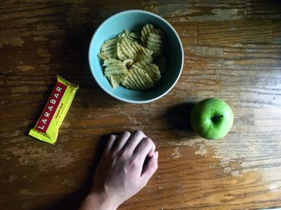 snacks apple chips larabar