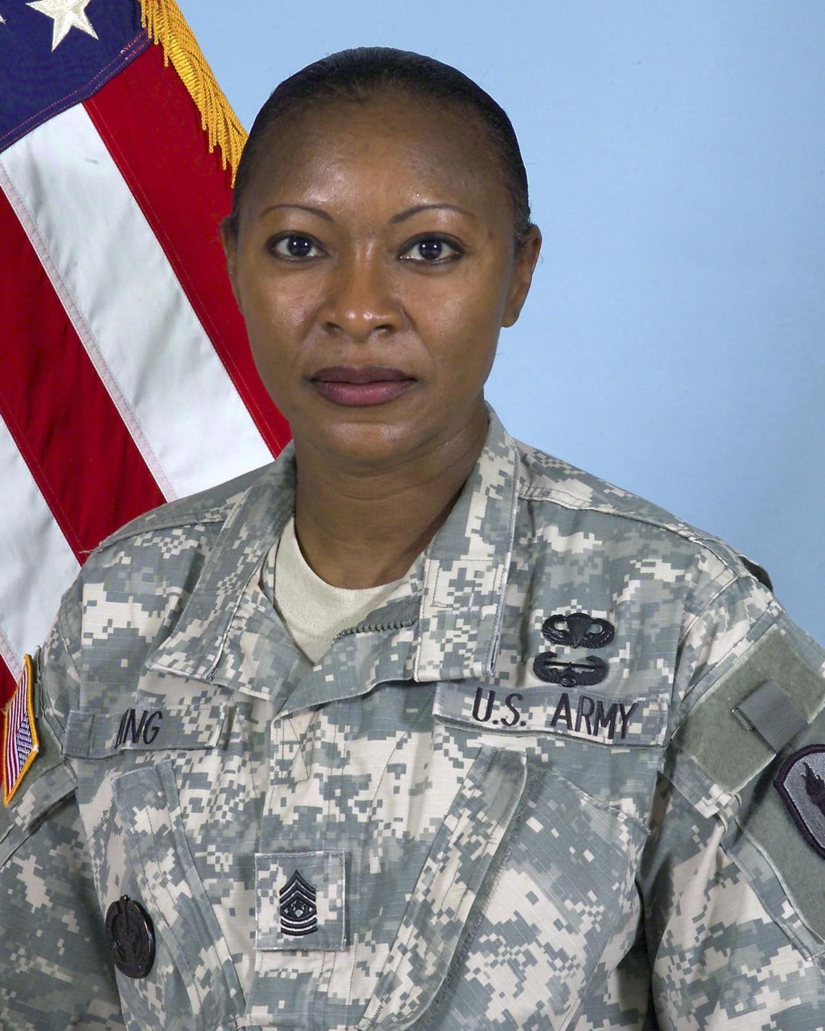 BC-SC--Drill Sergeant-Commandant, 1st Ld-Writethru,525<\n>Retired female Army drill sergeant commander sues