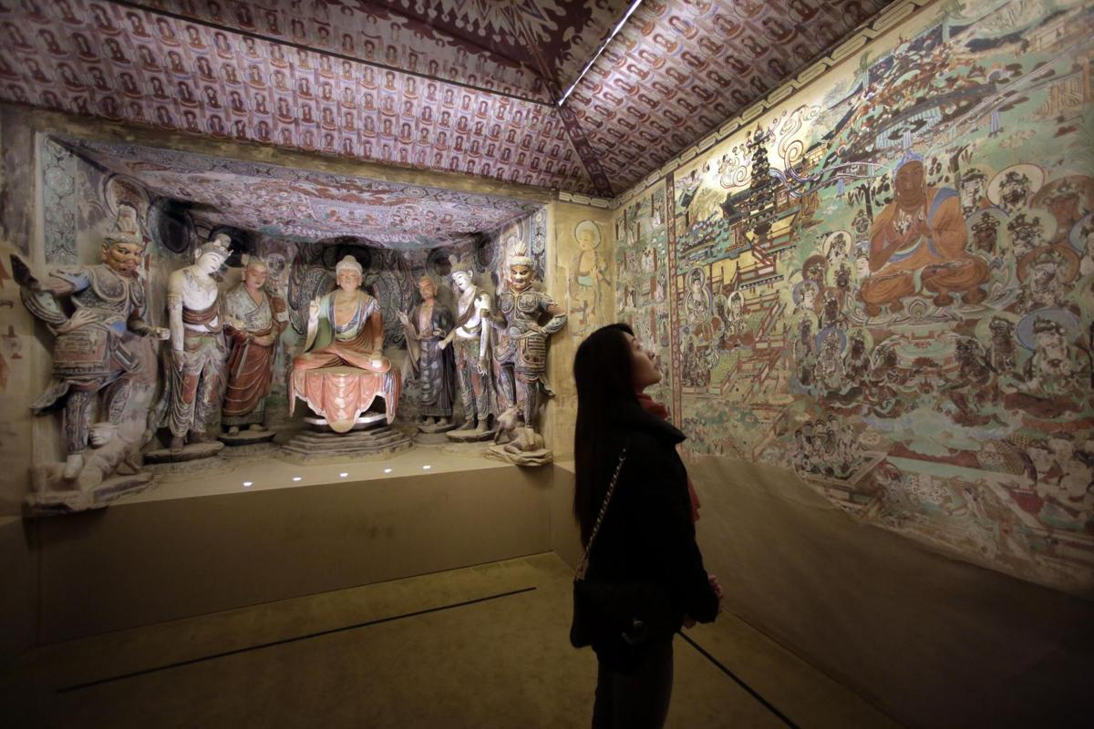 NYC exhibit depicts Buddhist caves