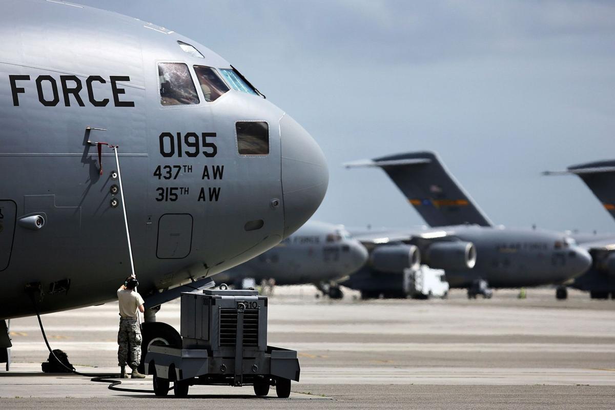 Charleston AFB plane makes another humanitarian airdrop
