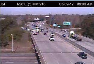 Crash closes 2 lanes on I-26 east near Charleston   News