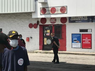 Columbia liquor store protest