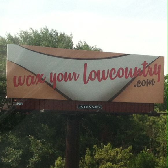 Downtown Charleston billboard raising some eyebrows