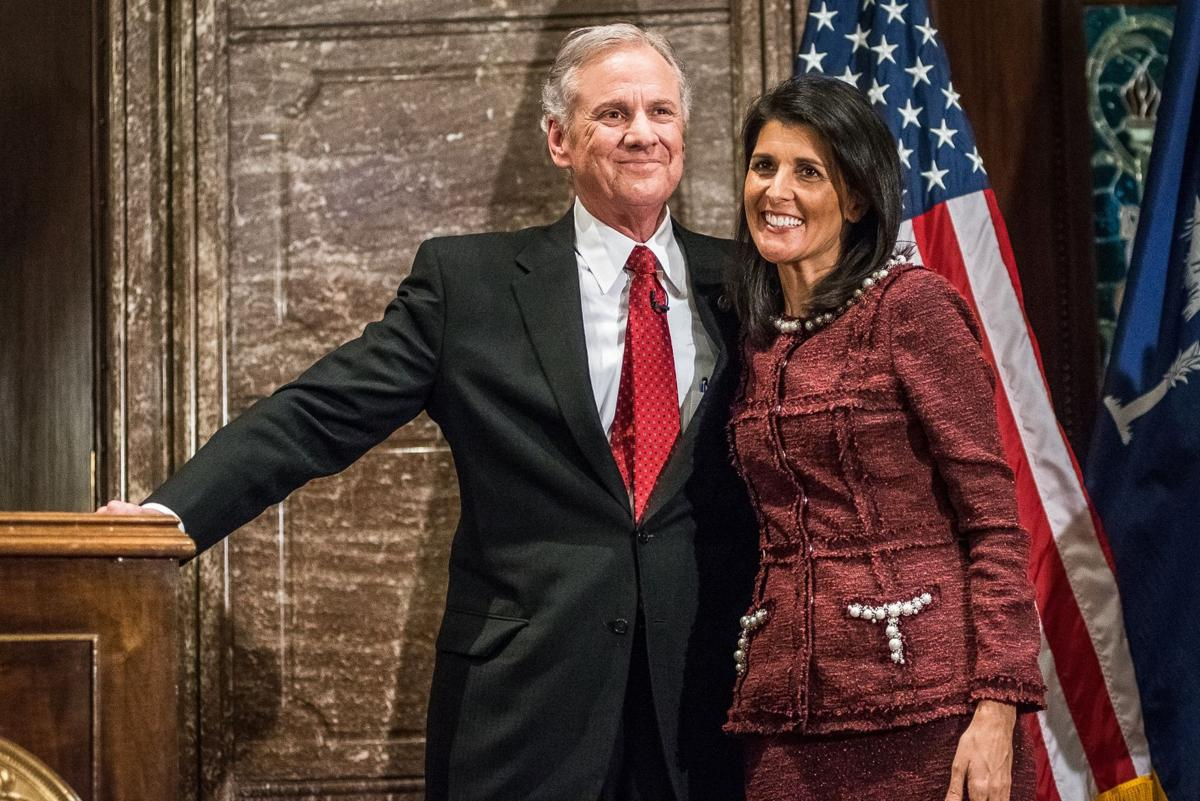Henry McMaster and Nikki Haley