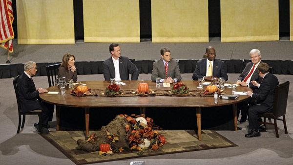 Republican contenders discuss faith in Iowa