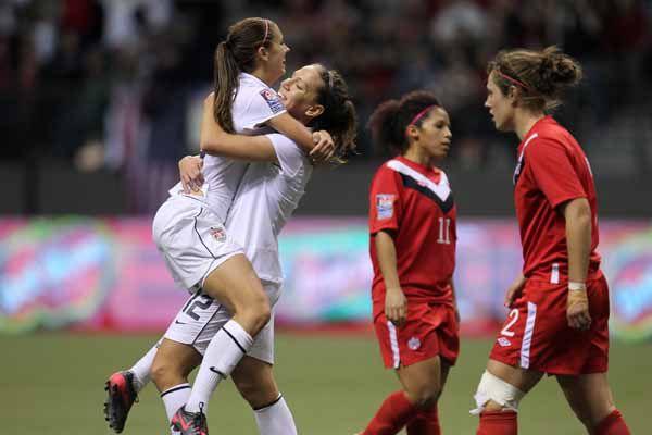 U.S. women's soccer beat Canada 4-0