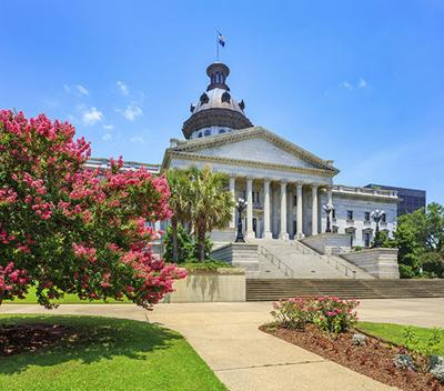 SC State House with in bloom