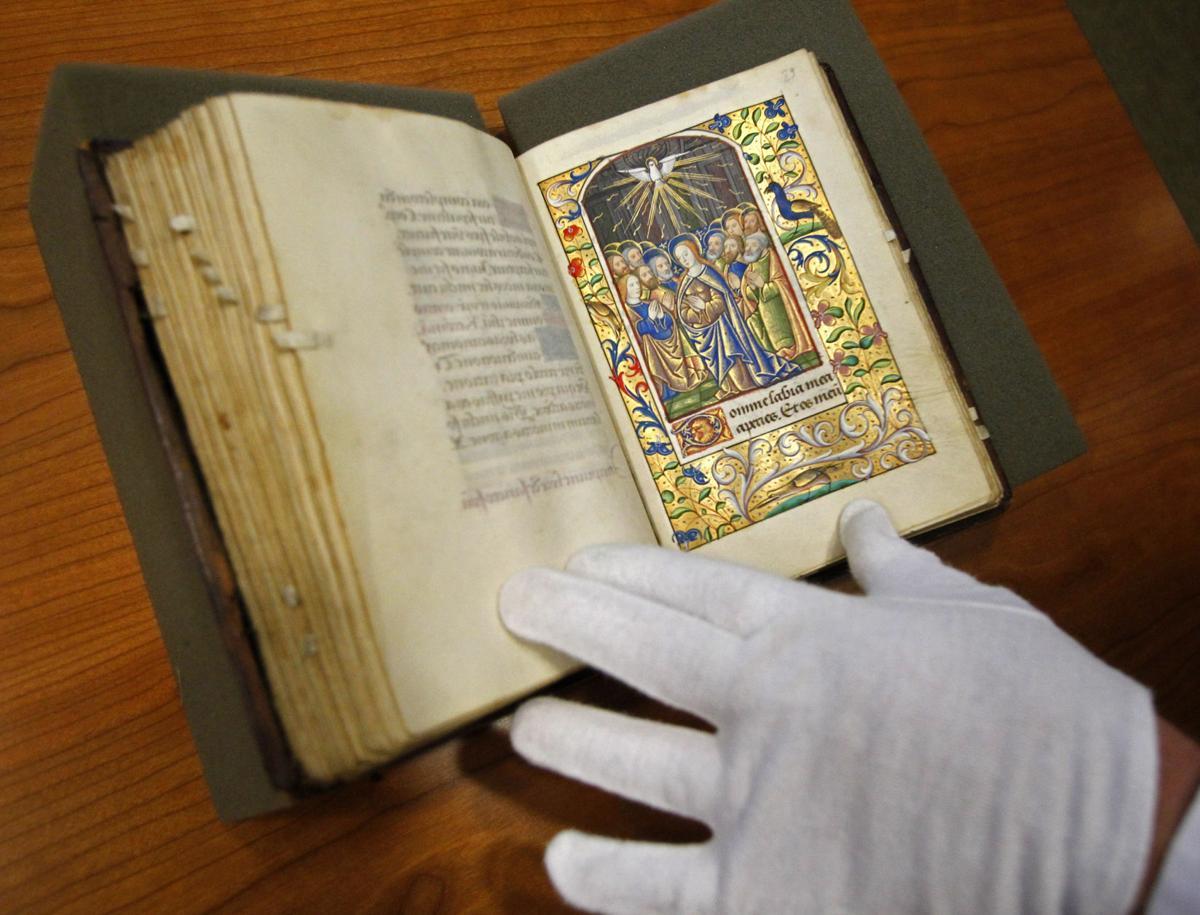 Rare 15th-century prayer book at USC Local student digitizing it online