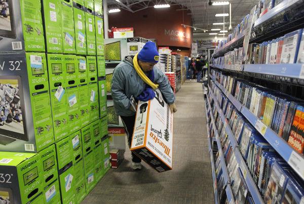 Best Buy shares tumble as third-quarter profit falls