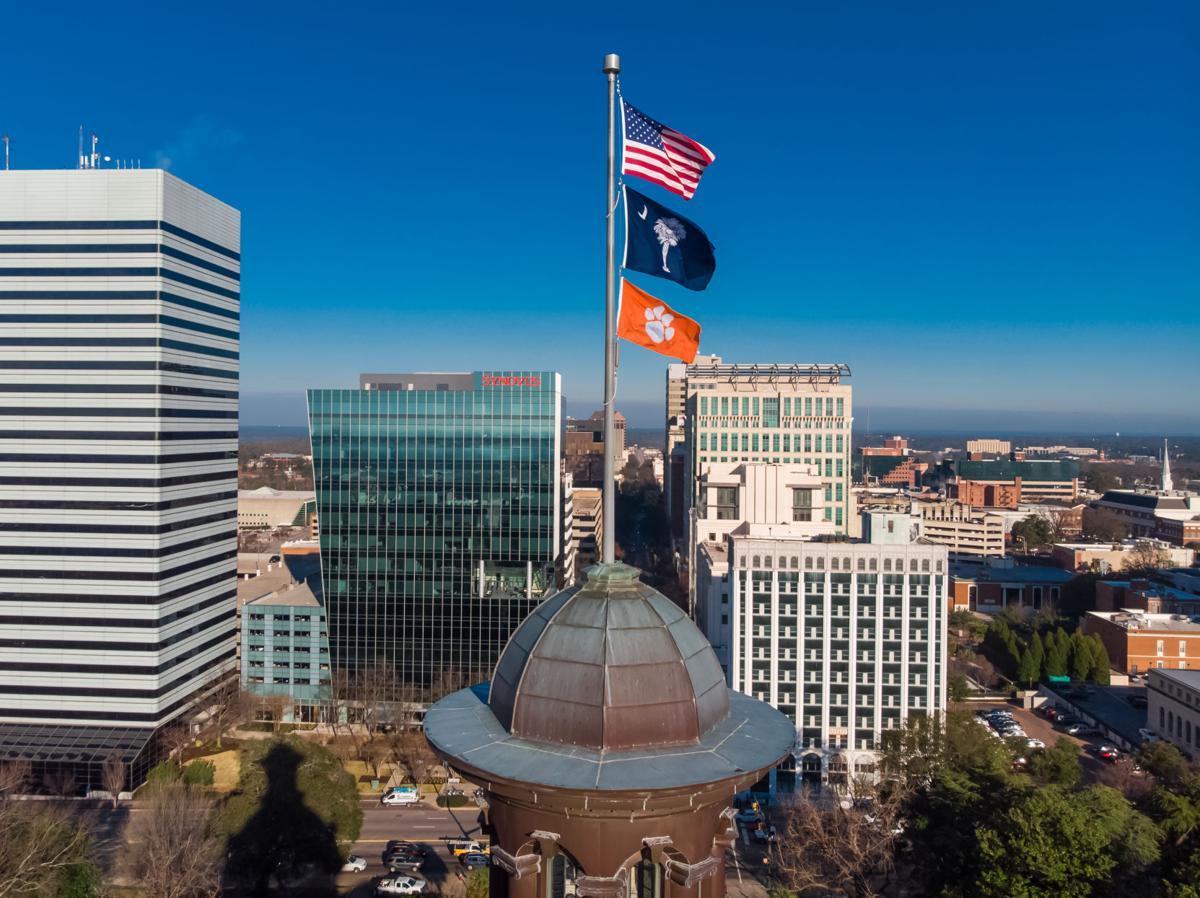 Clemson flag atop Statehouse