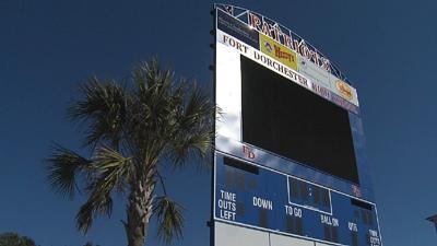 Fort Dorchester High School's scoreboard
