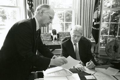 Richard W. Riley and Bill Clinton (copy)