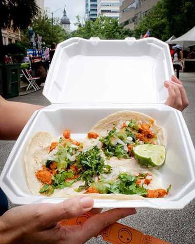 Tacos al Pastor at Main Street Latin Festival