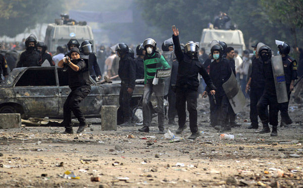 Egypt uprising has a more violent feel
