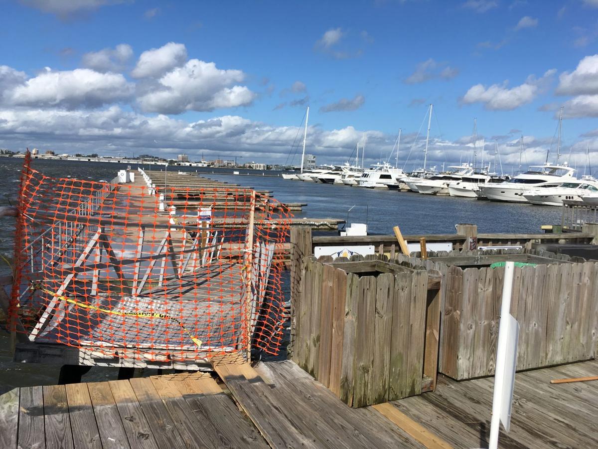 Irma damaged some Charleston area marinas