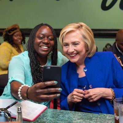Kiki Cyrus and Hillary Clinton