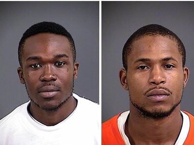 Two North Charleston men charged in Charleston holdup