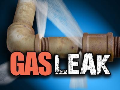 Gas leak downtown secured