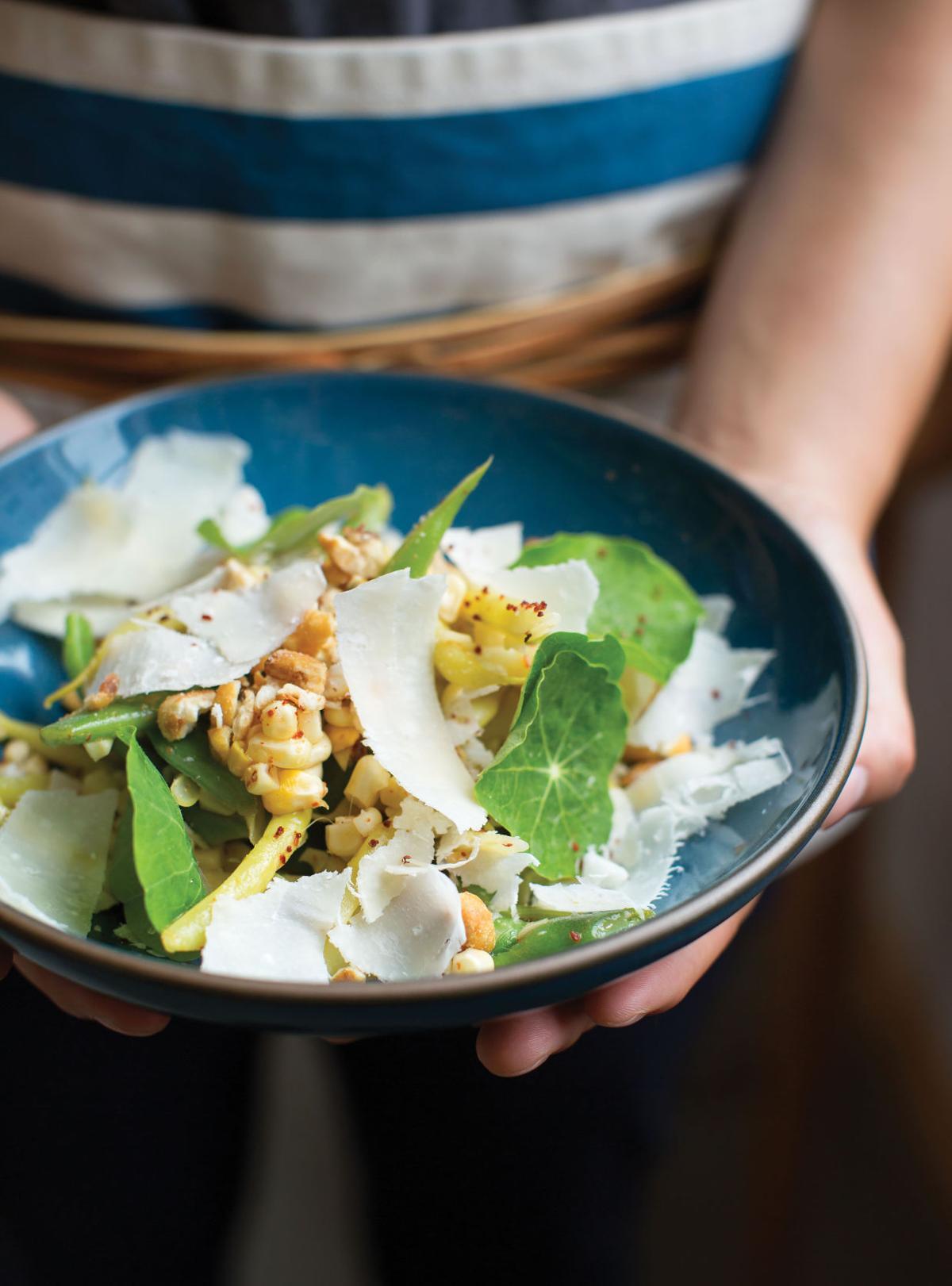 Corn, Green Beans and Parmesan