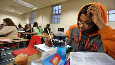 Ticket out is tough, lonely ride Academic Magnet student battles odds