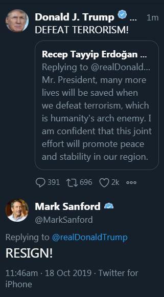 Sanford tweet resign
