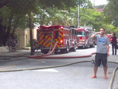 Downtown fire draws quick response