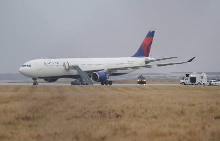 Explosive set off on plane