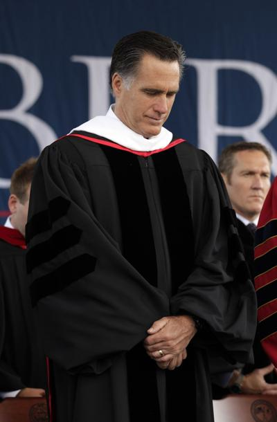 Romney urges grads to honor family commitments during Liberty University commencement address