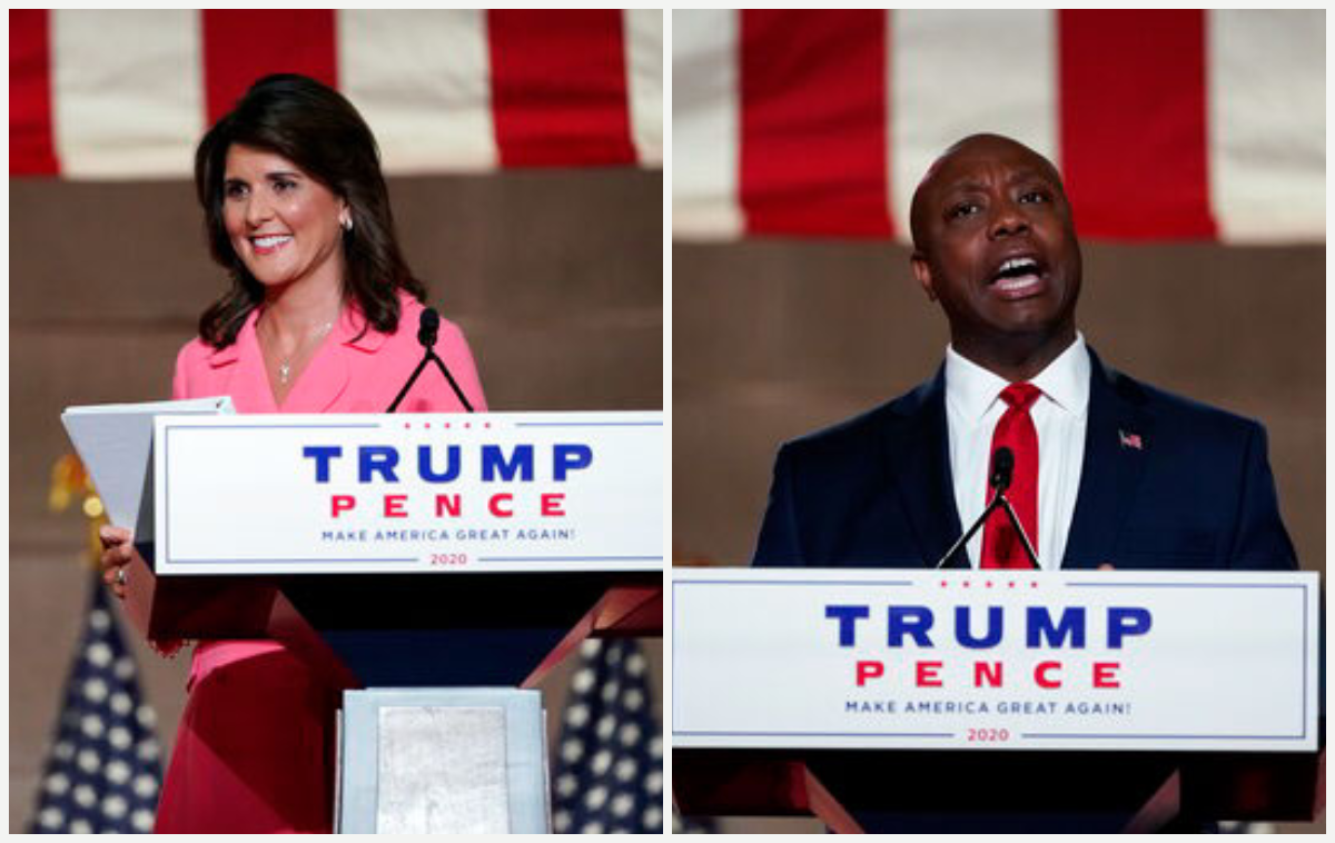 SC's Nikki Haley, Tim Scott reflect on being minorities during RNC ...