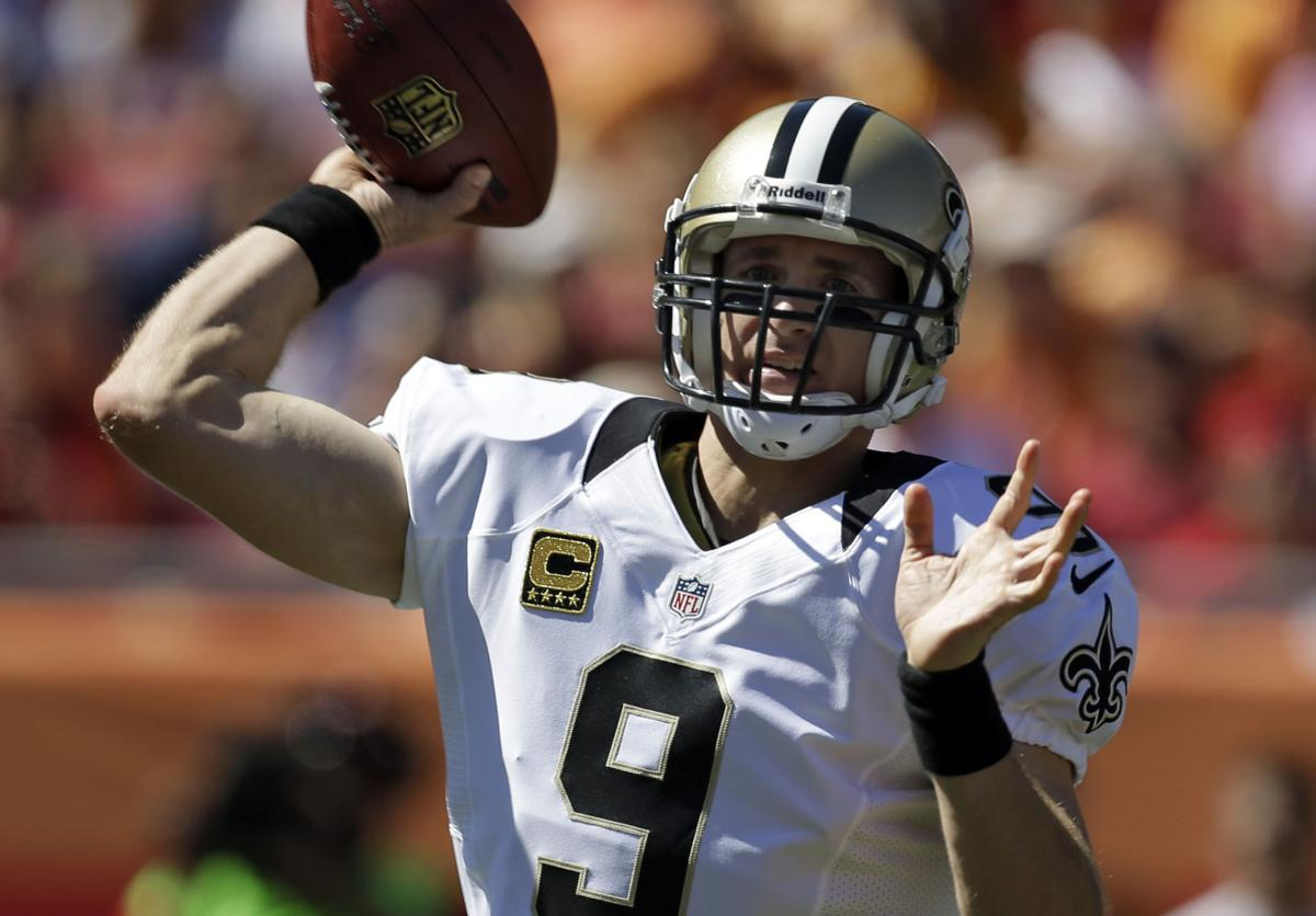 Brees throws 4 TDs, Saints hang on to beat Bucs