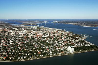 Aerial of Murry Drive and East Battery (copy)
