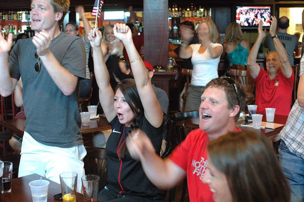 Local fans good sports after U.S. soccer loss