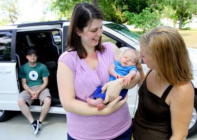 Baby born in van