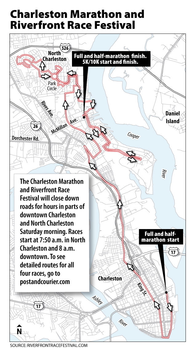 Charleston Marathon will mean some road juggling