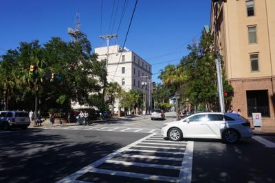 Calhoun and St. Philip, College of Charleston