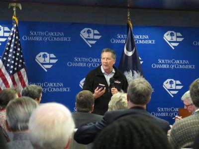 Gov. John Kasich stays positive in S.C.