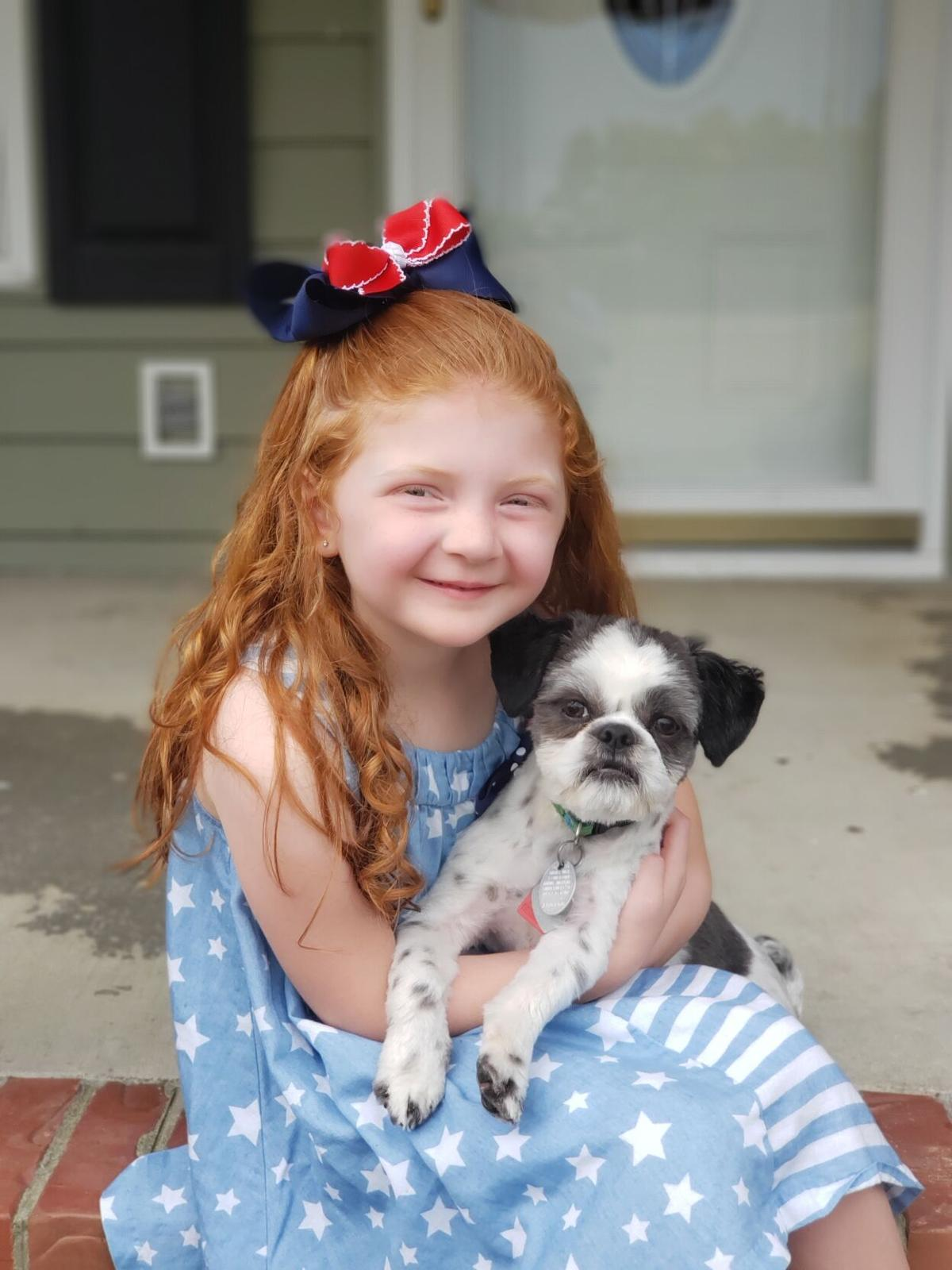 Adelyn Proctor, age 7 and Buddy