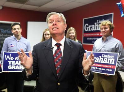 Lindsey Graham opens Charleston office, defends government's role