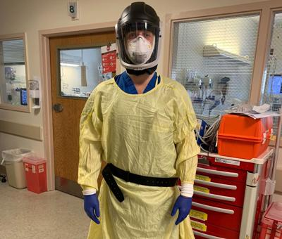 Nurse Mitch Haverstuhl dons PPE while working with COVID patients in NYC (copy)