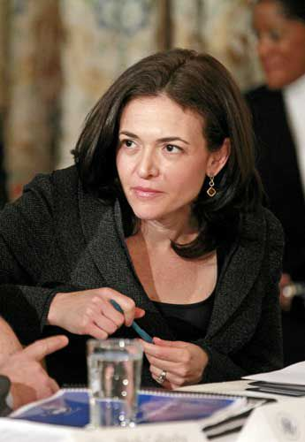 Facebook's Sheryl Sandberg staying on message