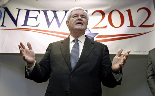 New poll has Romney on top, Gingrich rising