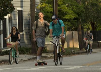Skateboard and bikes.JPG